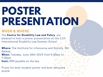 Poster Presentation Opportunity at the 11th International Disability Law Summer School